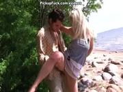 Динамичный порно пикап со зрелыми блондинками